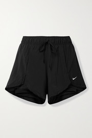 Nike Flex Essential layered shell and stretch-jersey shorts