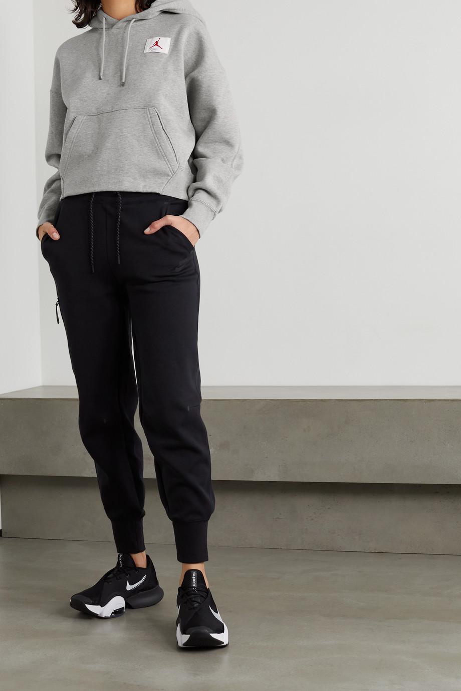 Nike Flight appliquéd embroidered cotton-blend jersey hoodie