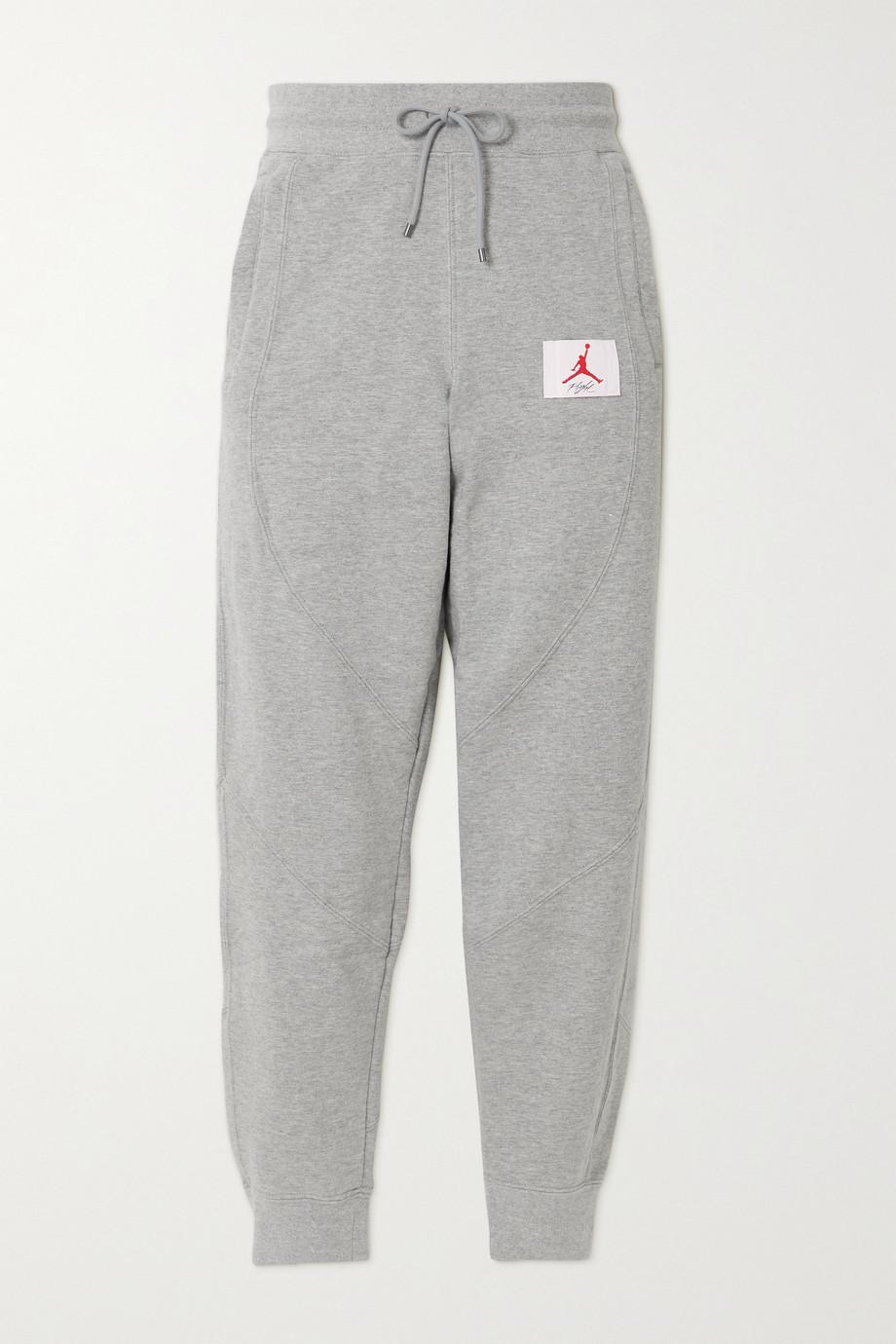 Nike Jordan Flight appliquéd cotton-blend jersey track pants