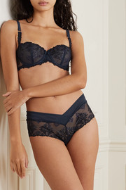 Chantelle Champs Elysées embroidered tulle briefs