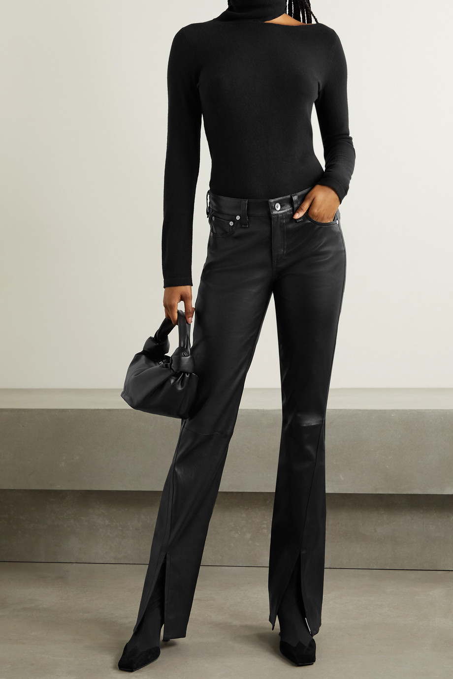 rag & bone Cate leather flared pants