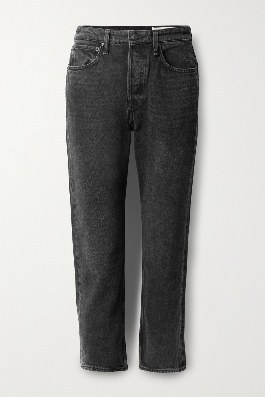 rag & bone Maya cropped high-rise straight-leg jeans