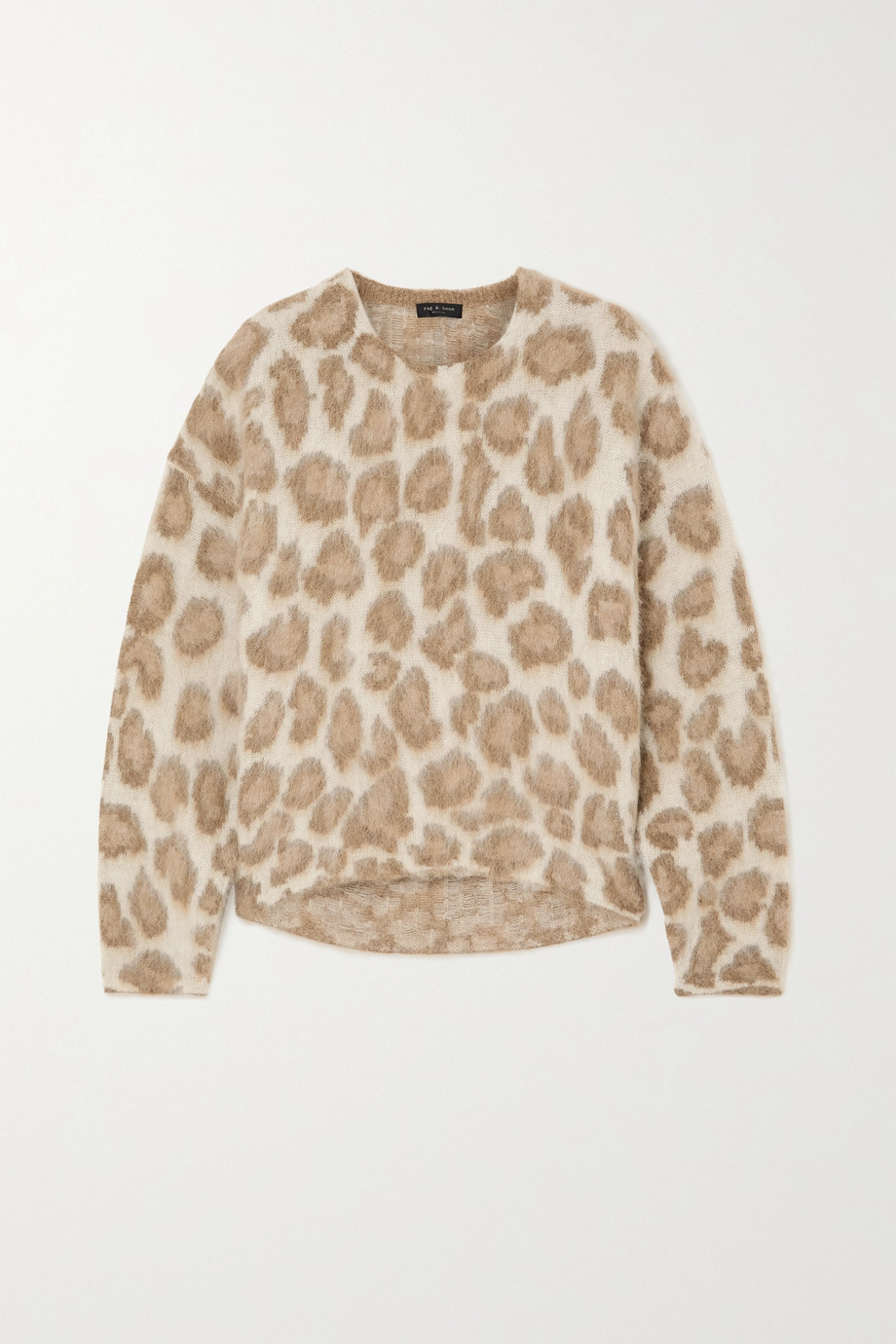 rag & bone Printed alpaca-blend sweater