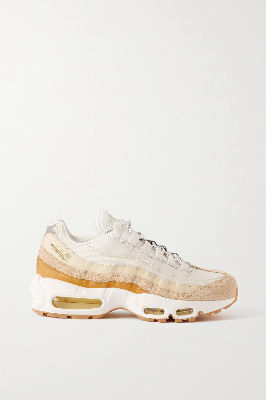 Nike Air Max 95 leather, suede and mesh sneakers