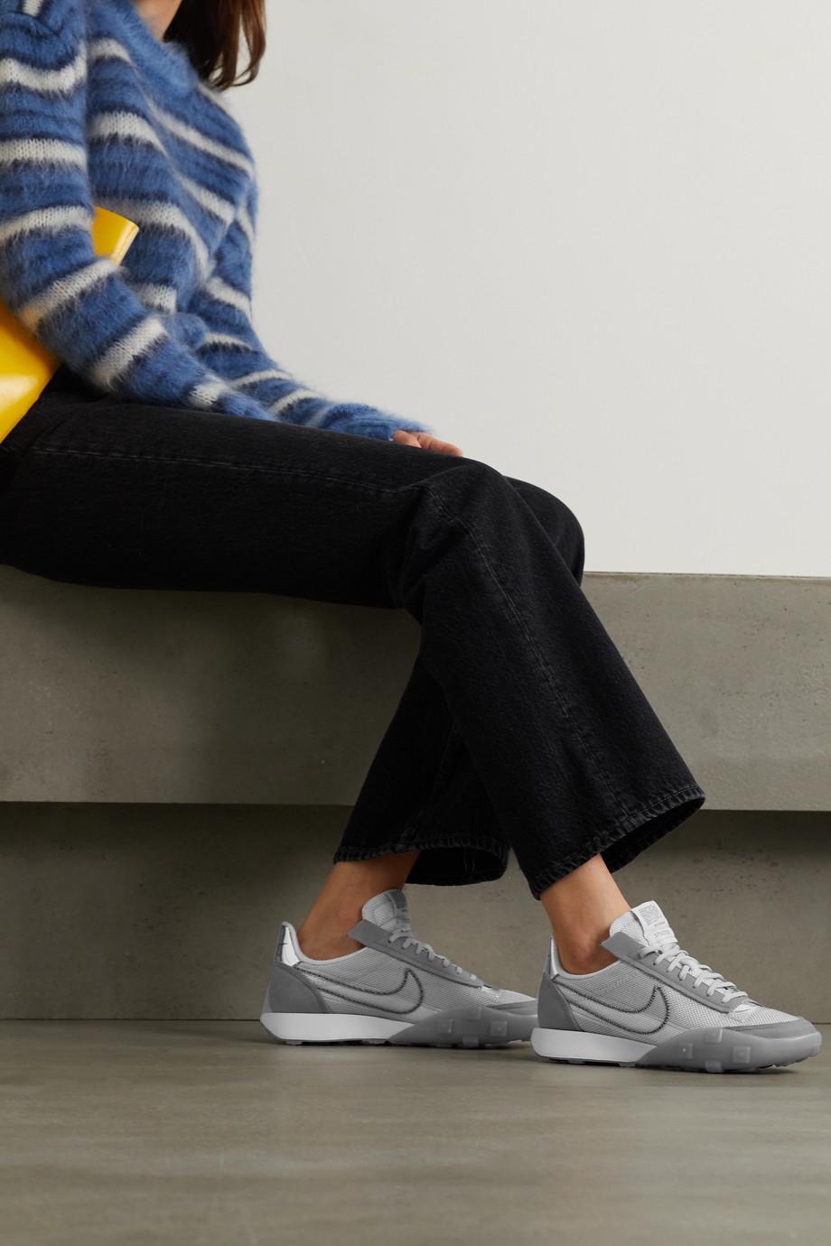 Nike Waffle Racer 2X Sneakers aus Ripstop und Veloursleder mit Gummibesätzen