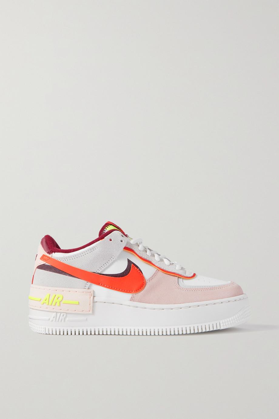 Nike Air Force 1 Shadow Sneakers aus Veloursleder und Leder