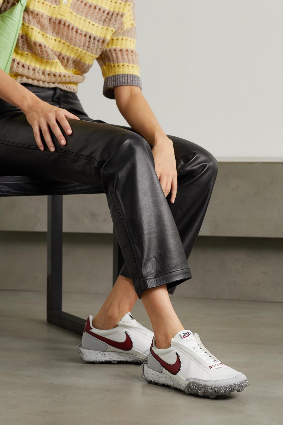 Nike Waffle Racer Crater Sneakers aus Shell mit Besätzen aus Leder und Veloursleder