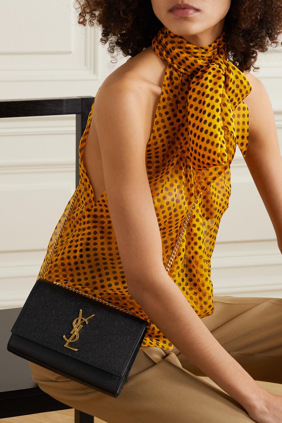 SAINT LAURENT Monogramme Kate small textured-leather shoulder bag