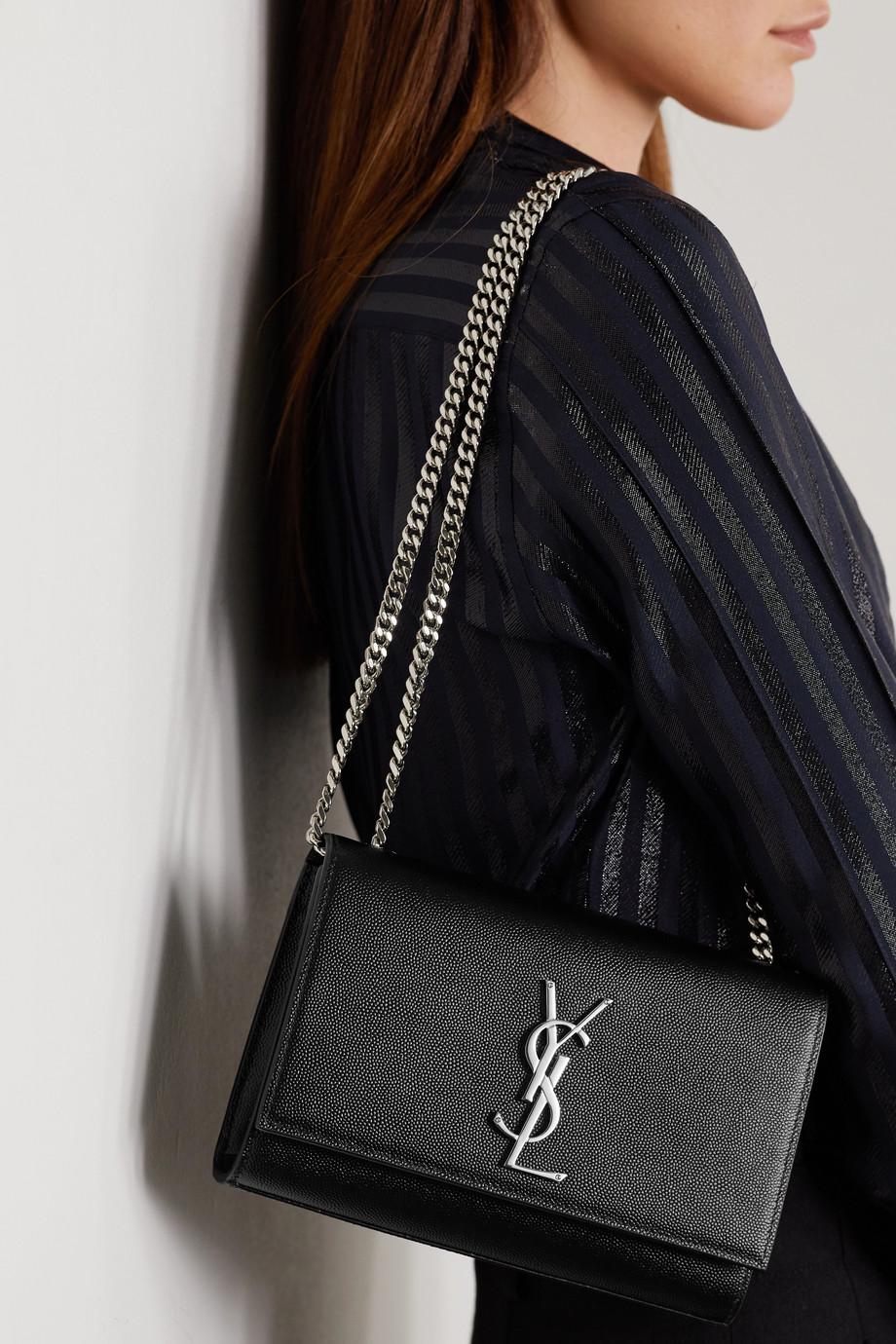 SAINT LAURENT Kate 纹理皮革小号单肩包