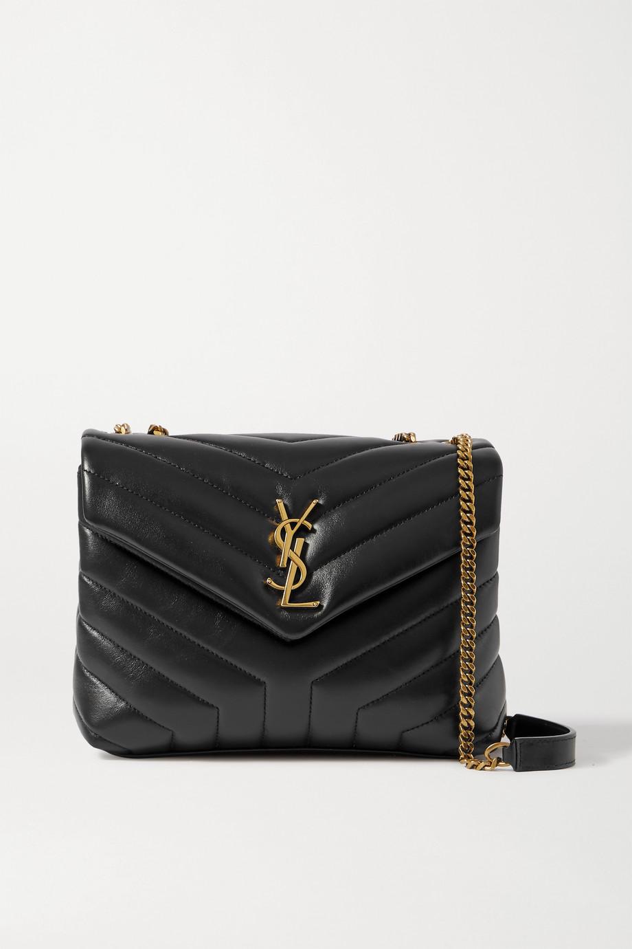 생 로랑 루루백 스몰 - 블랙 Saint Laurent Loulou small quilted leather shoulder bag,Black