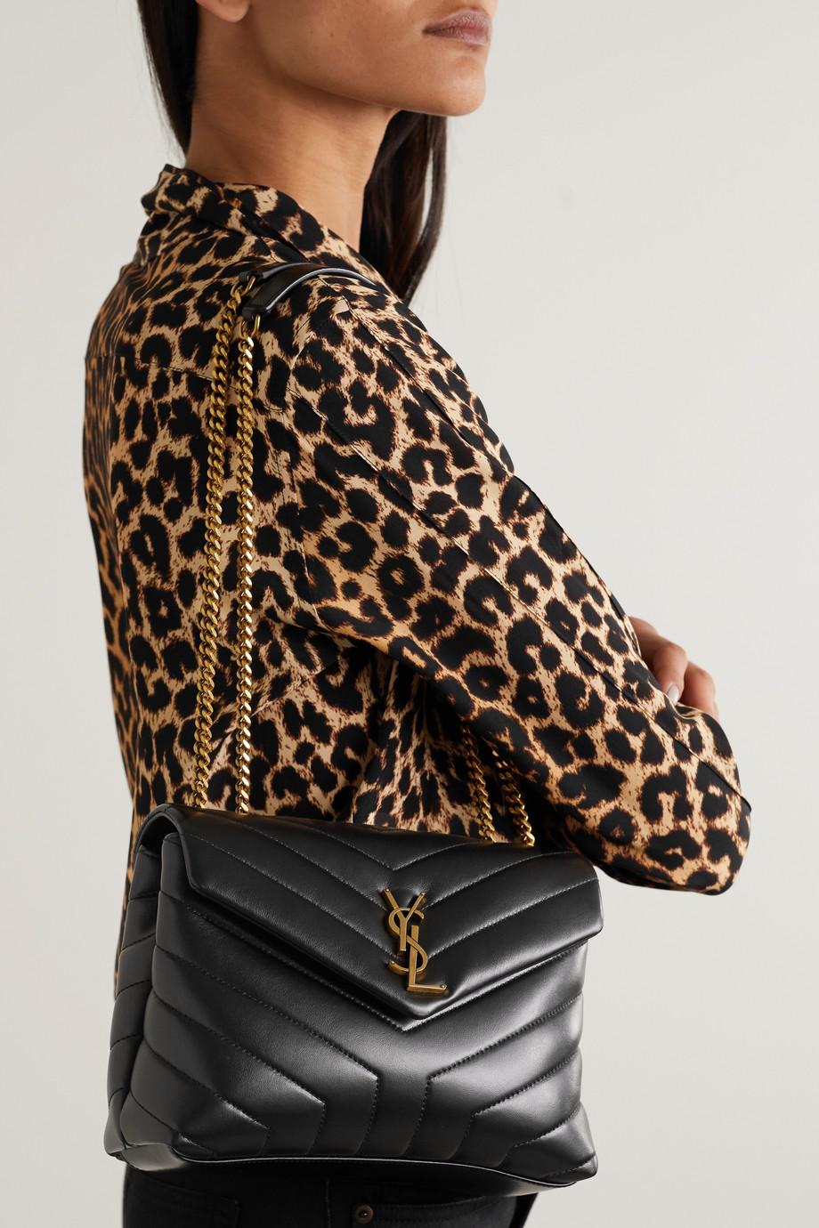 SAINT LAURENT Loulou 绗缝皮革小号单肩包