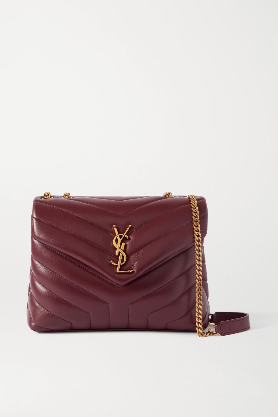생 로랑 루루백 스몰 - 버건디 Saint Laurent Loulou small quilted leather shoulder bag,Burgundy