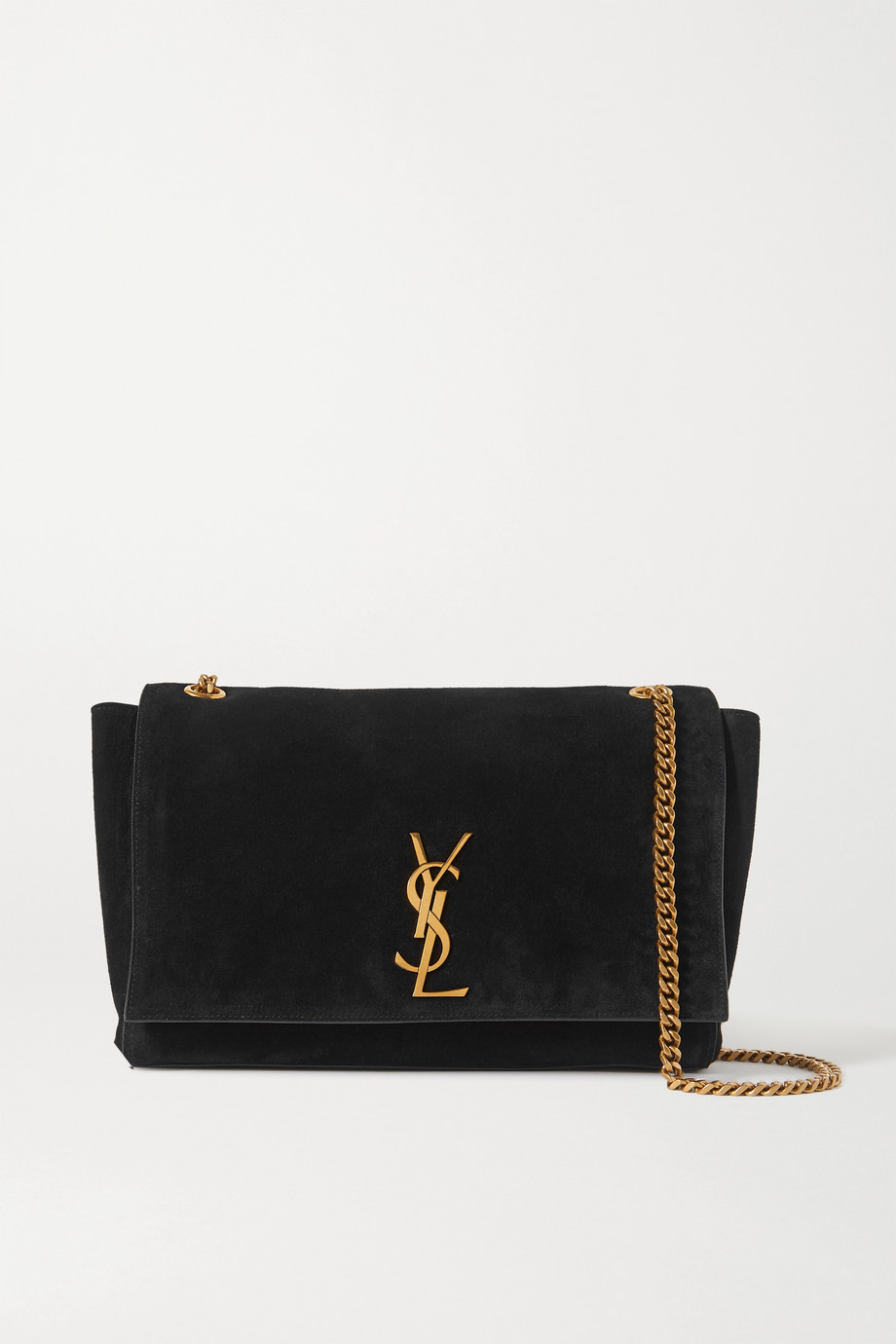 SAINT LAURENT Kate reversible leather and suede shoulder bag