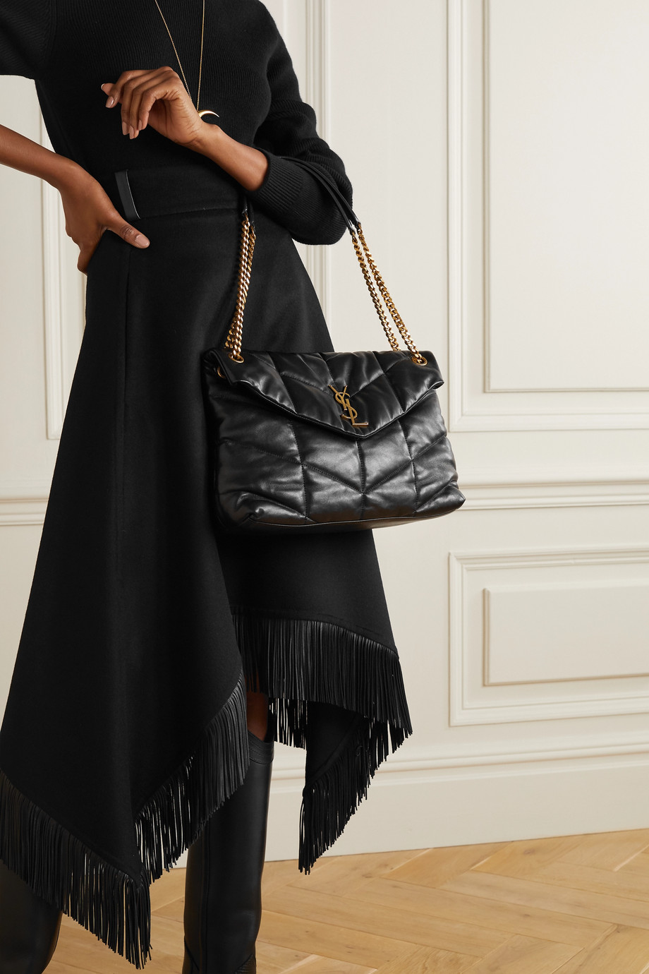 SAINT LAURENT Loulou Puffer medium quilted leather shoulder bag
