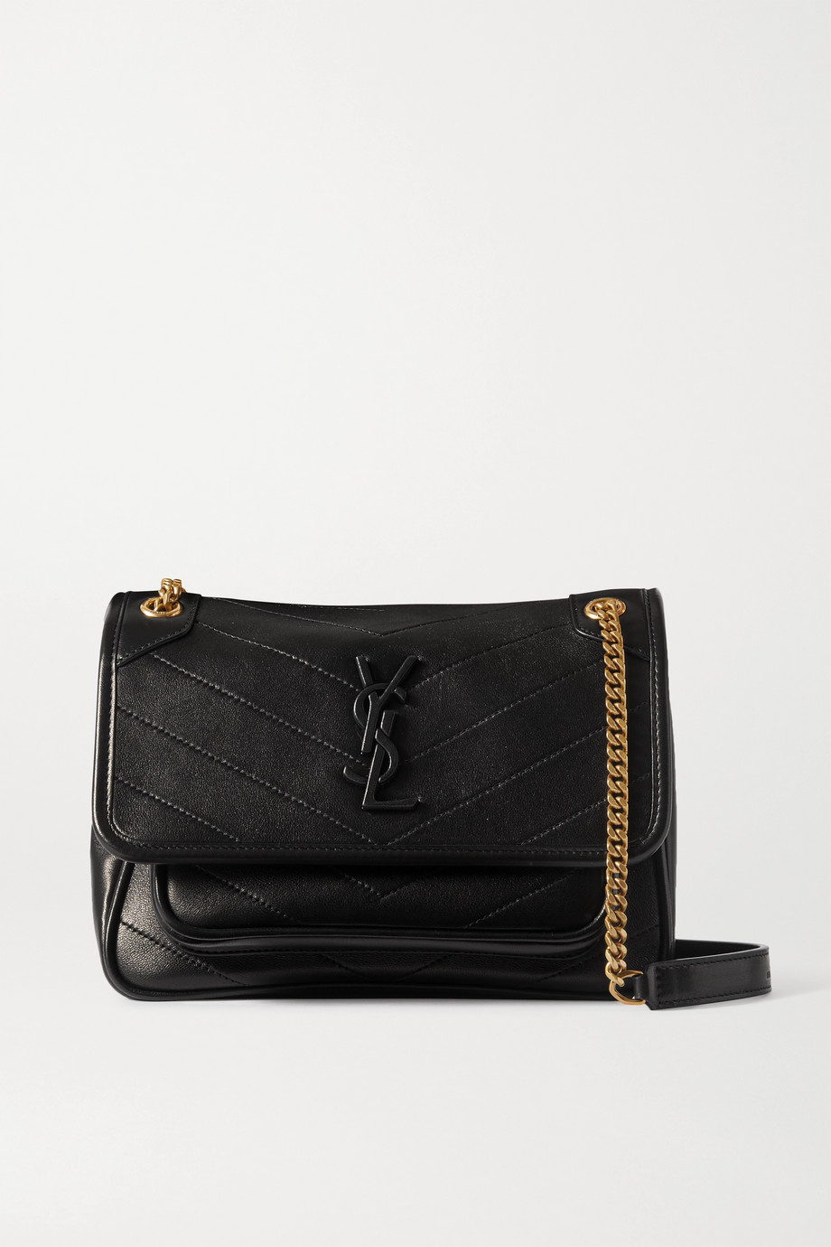 SAINT LAURENT Niki mini quilted leather shoulder bag