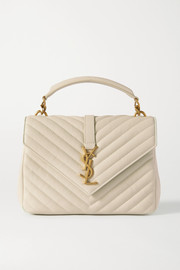 SAINT LAURENT College medium quilted leather tote