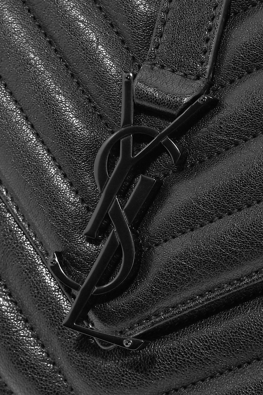 SAINT LAURENT College mittelgroße Schultertasche aus gestepptem Leder