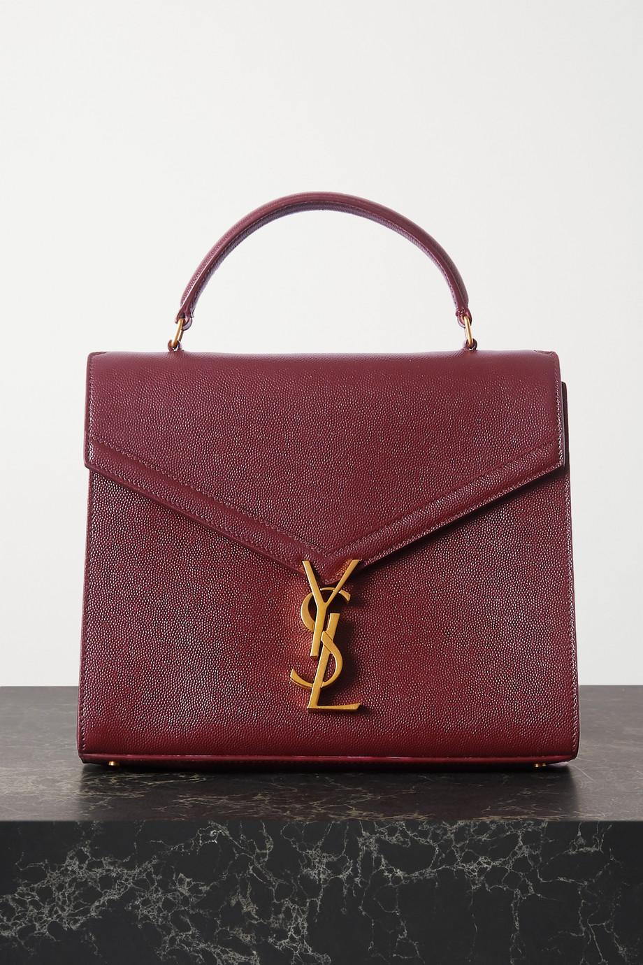 SAINT LAURENT Cassandra medium textured-leather tote