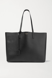 SAINT LAURENT Shopper large textured-leather tote