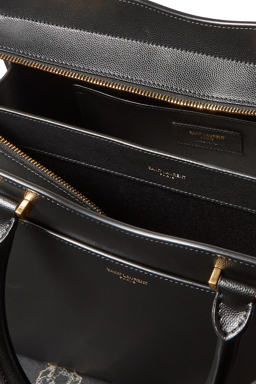 SAINT LAURENT Uptown medium textured-leather tote