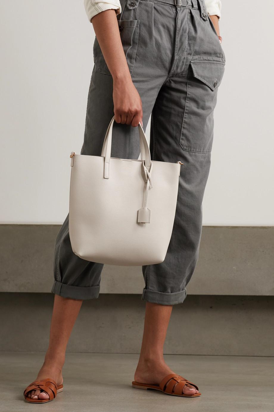 SAINT LAURENT Mini leather tote