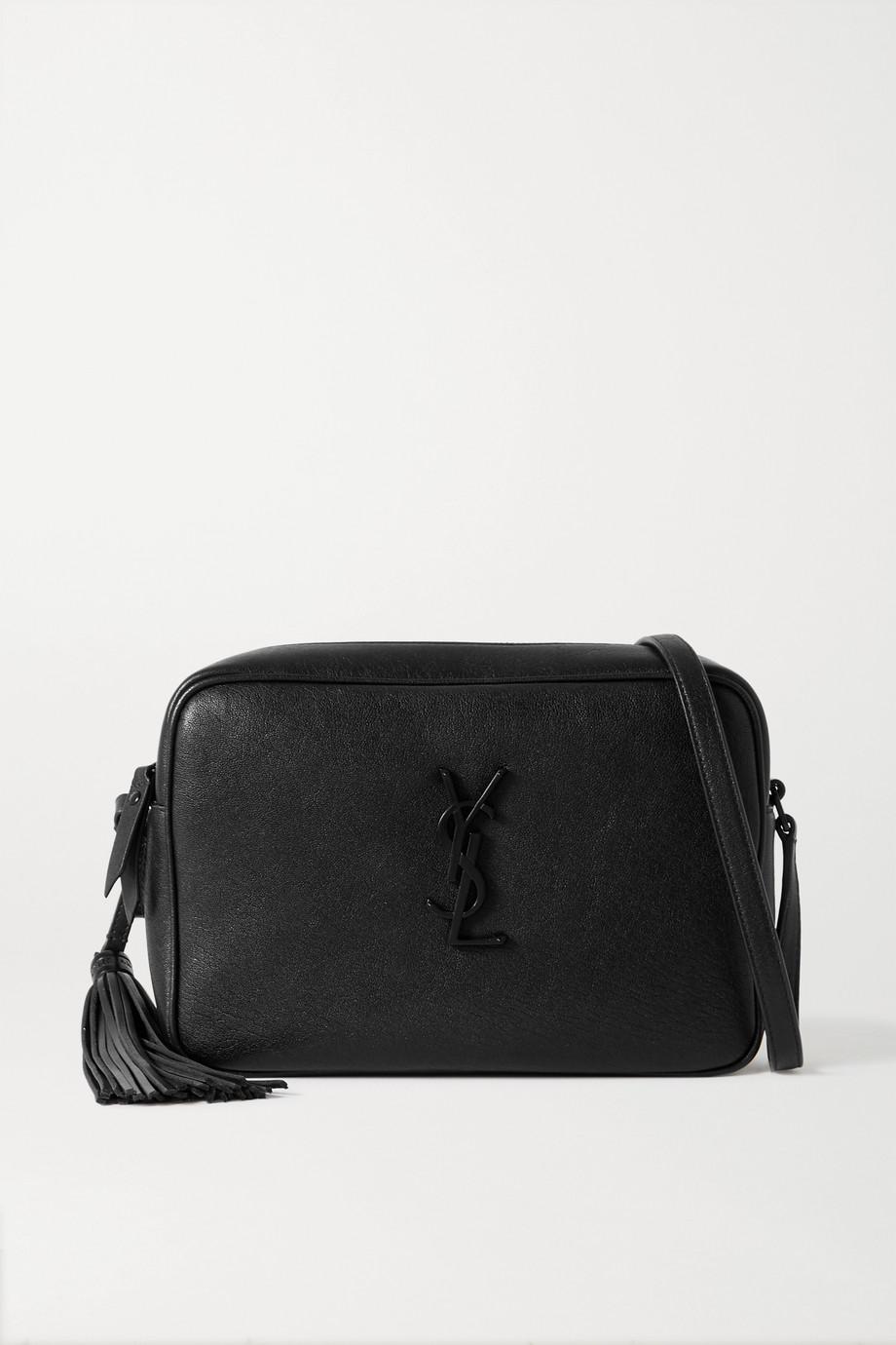 SAINT LAURENT Lou medium textured-leather shoulder bag