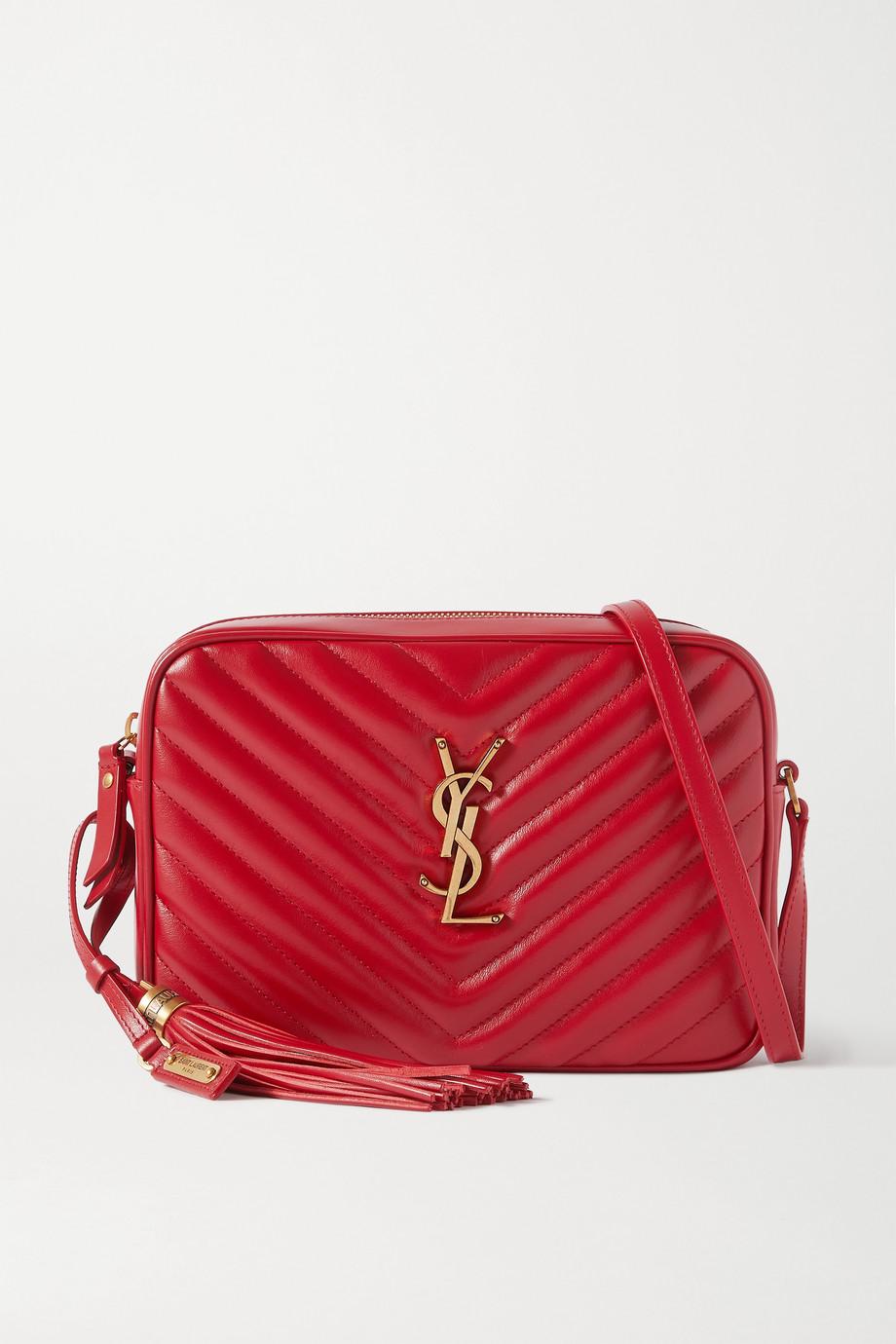 생 로랑 루 카메라백 - 레드 Saint Laurent Lou medium quilted leather shoulder bag,Red