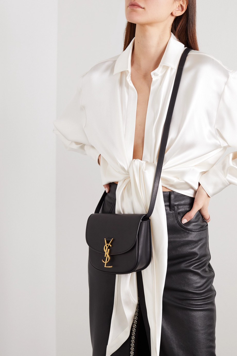 SAINT LAURENT Kaia small leather shoulder bag
