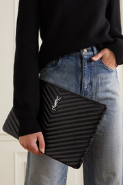 SAINT LAURENT Quilted leather pouch