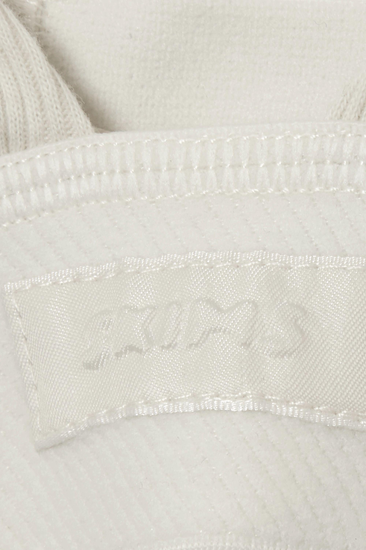 SKIMS Plunge ribbed cotton-blend jersey bralette - Bone