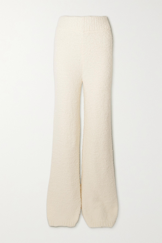 SKIMS Cozy Knit bouclé pants - Bone