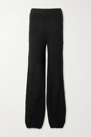 SKIMS Cozy Knit bouclé pants - Onyx