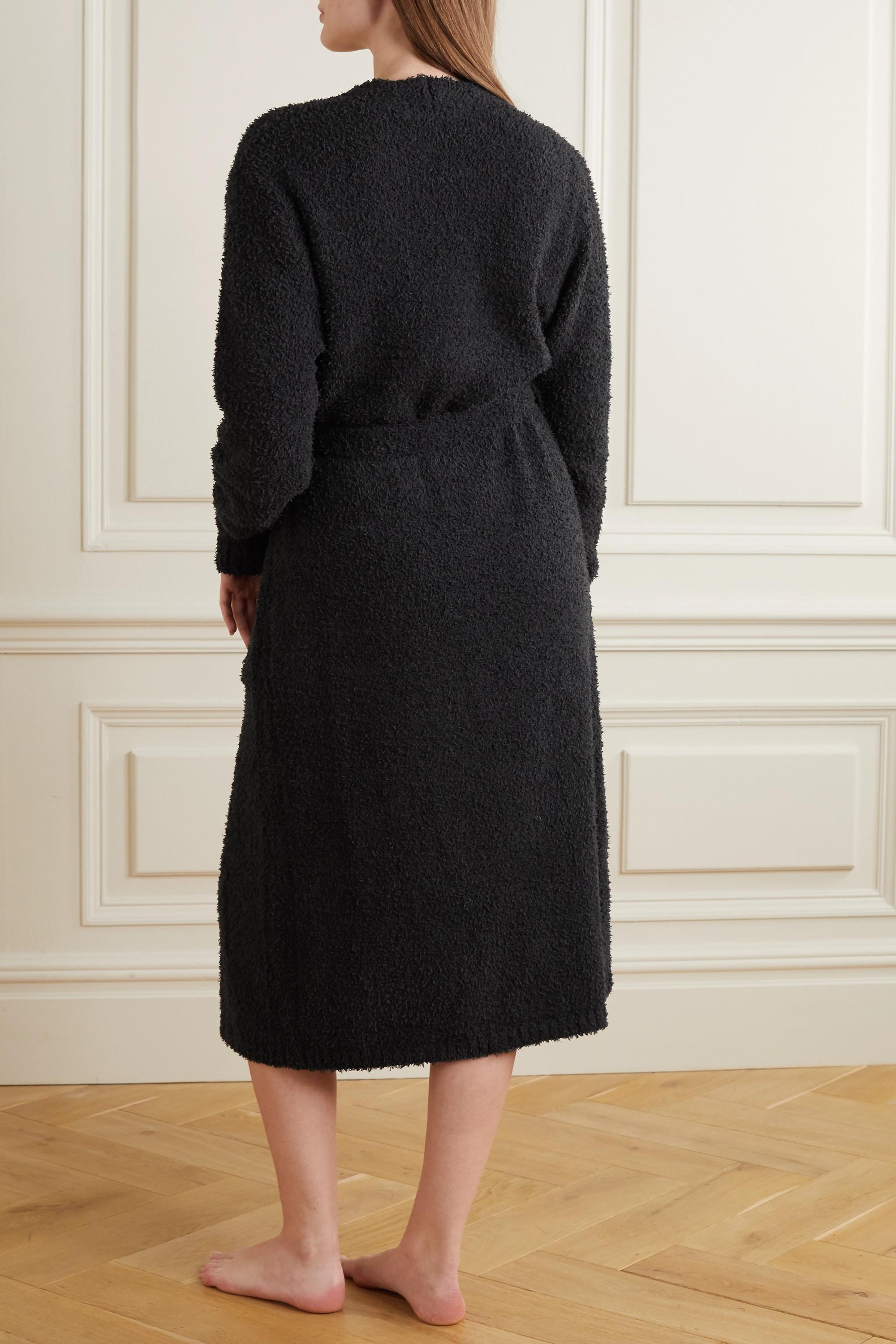 SKIMS Cozy Knit bouclé robe - Onyx