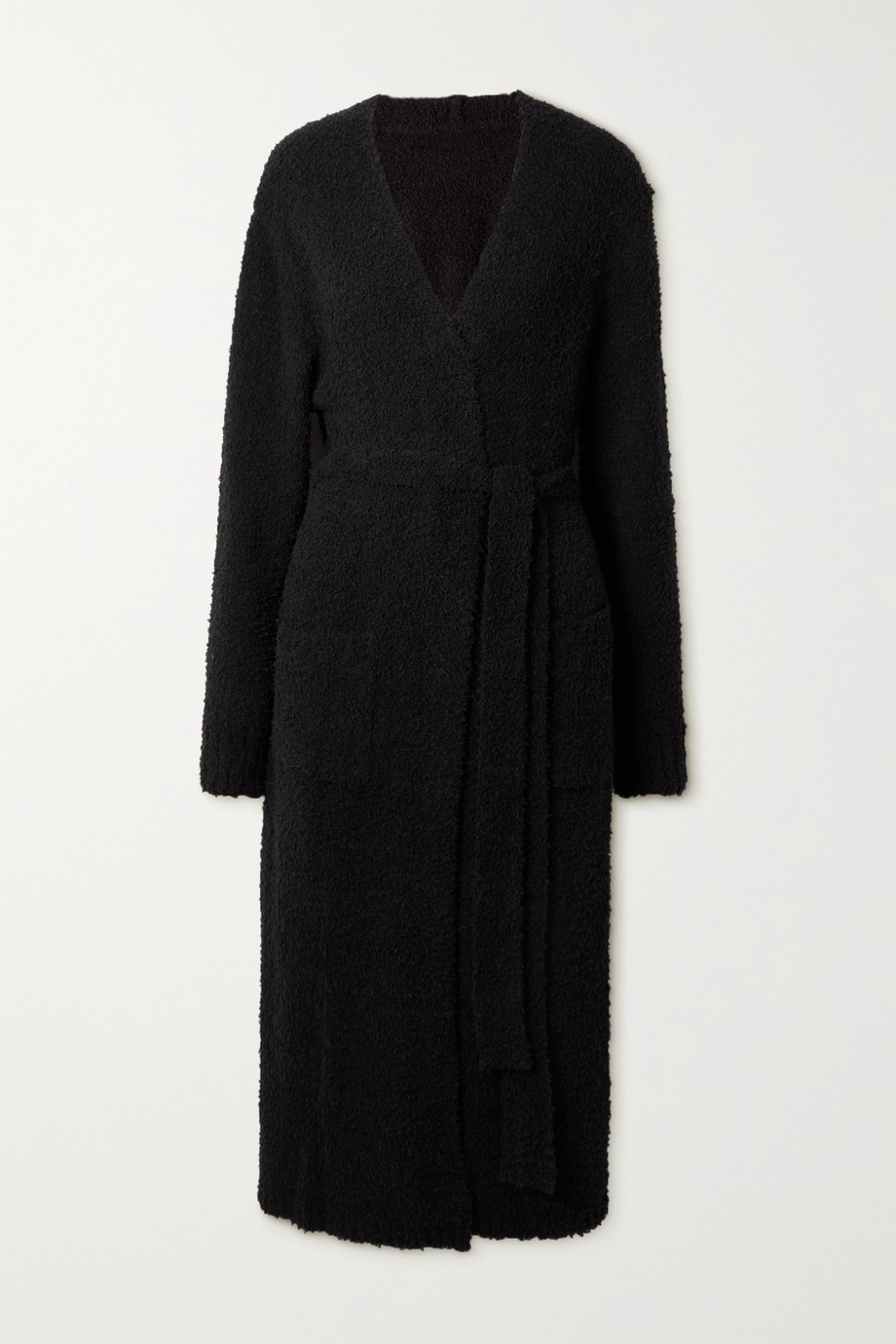SKIMS Cozy Knit bouclé robe - Onyx