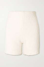SKIMS Cozy Knit bouclé shorts - Bone