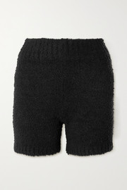 SKIMS Cozy Knit bouclé shorts - Onyx