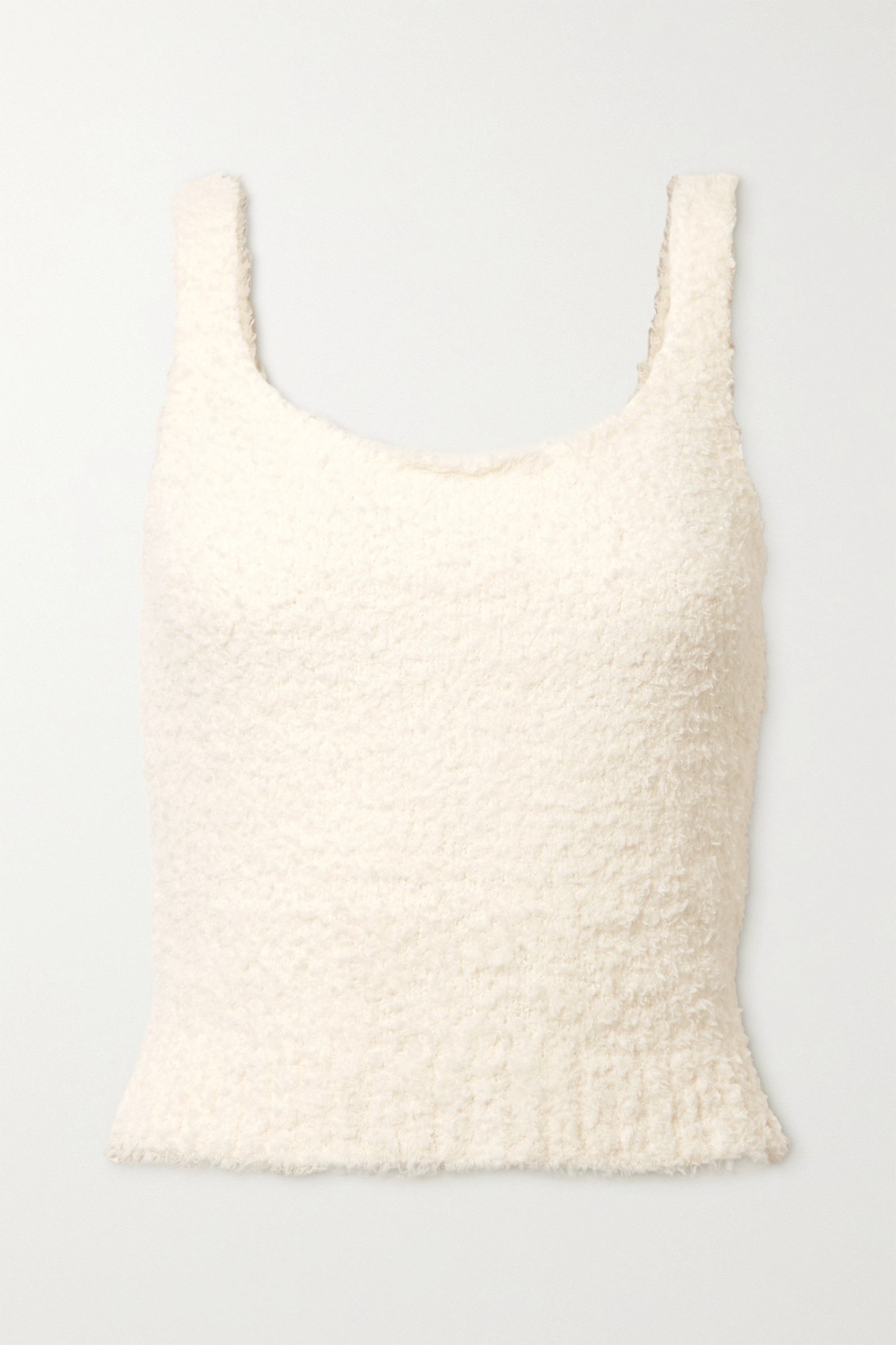 SKIMS Cozy Knit bouclé tank - Bone