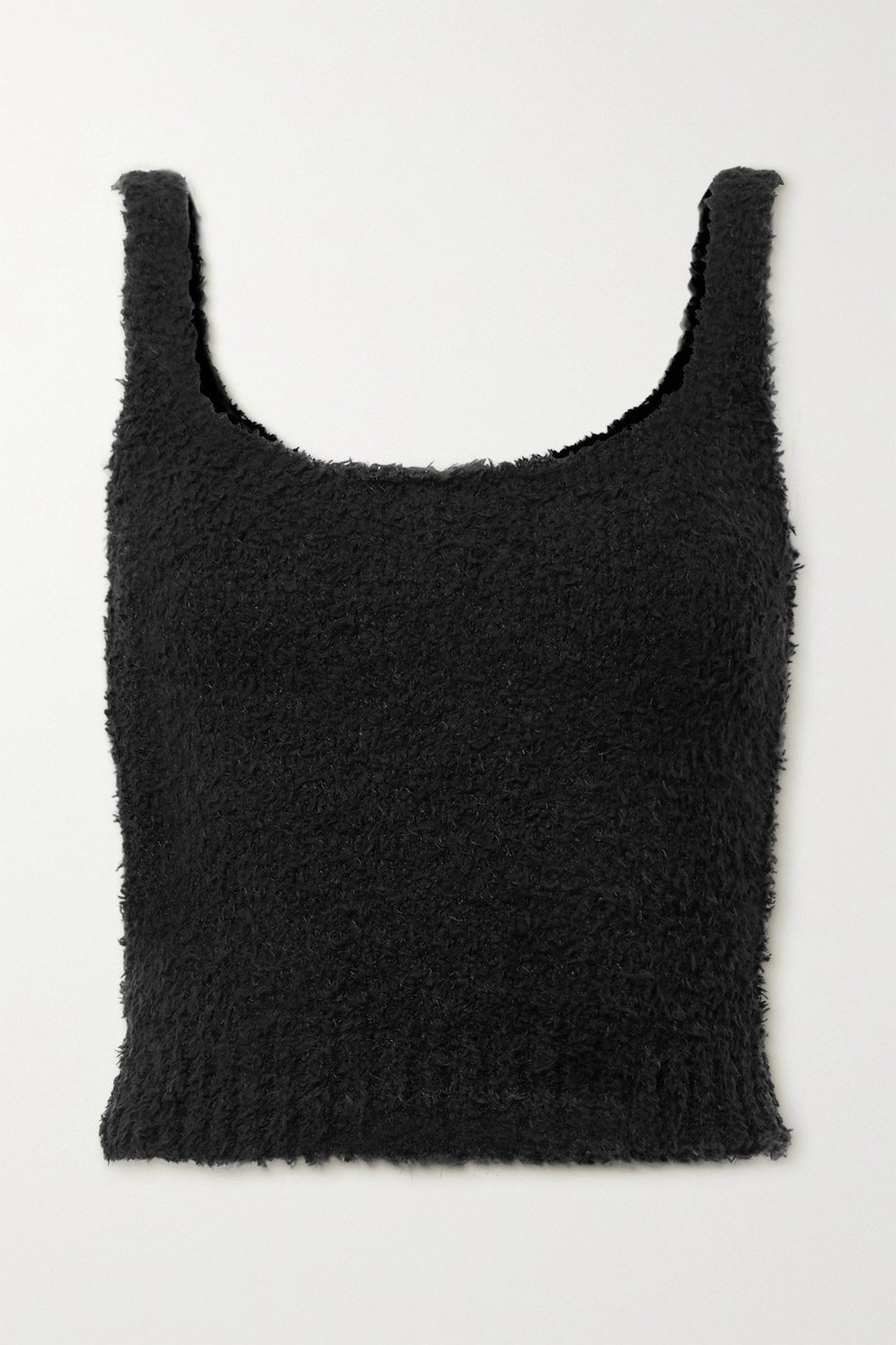 SKIMS Cozy Knit bouclé tank - Onyx