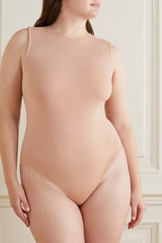 SKIMS Essential Crew Neck Thong bodysuit - Sandstone