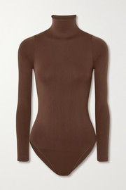 SKIMS Essential Mock Neck bodysuit - Smokey Quartz