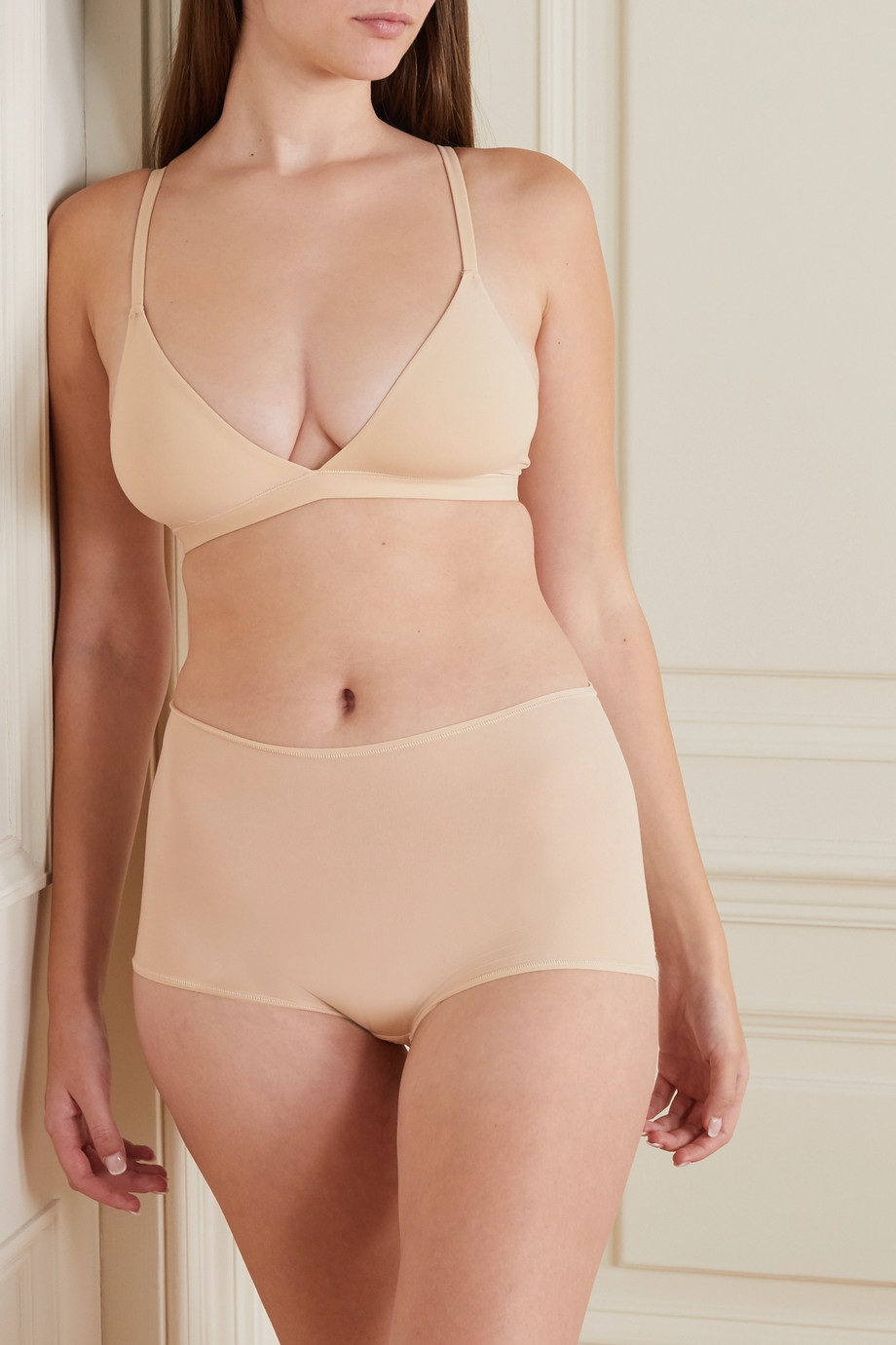 SKIMS Fits Everybody triangle bralette - Sand