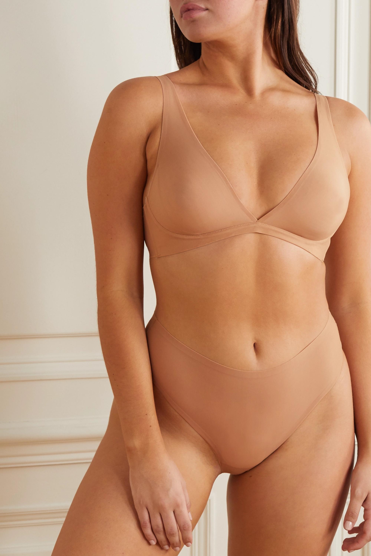 SKIMS Naked Everyday plunge bra - Honey