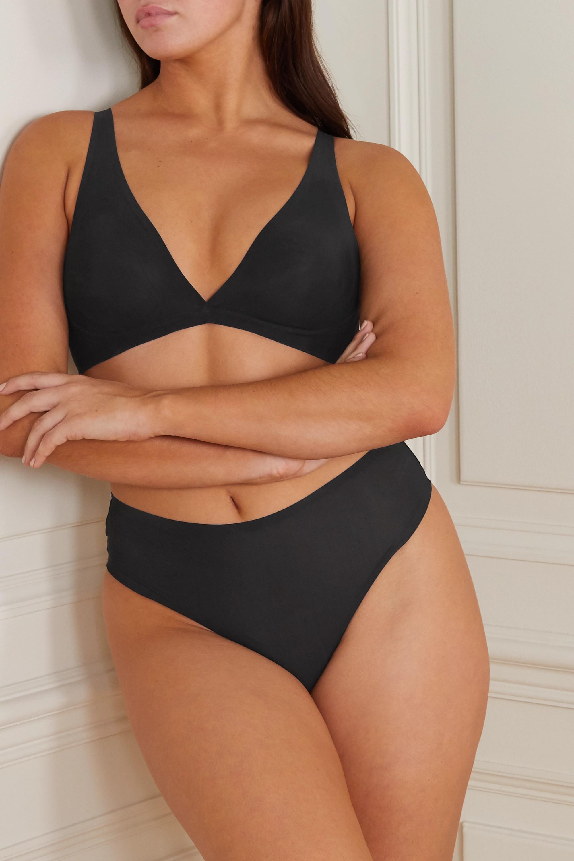SKIMS Naked Everyday plunge bra - Onyx