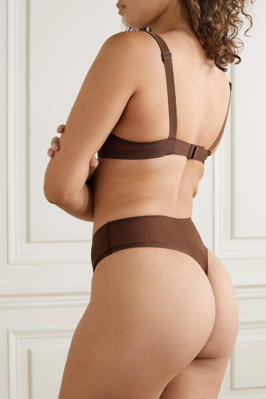 SKIMS Naked plunge bra - Smokey Quartz
