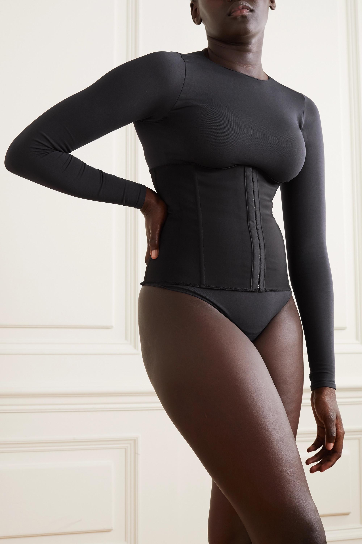 SKIMS Stretch-neoprene waist trainer - Onyx
