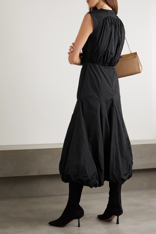 Renaissance Renaissance Yoko ruched cotton-taffeta midi dress