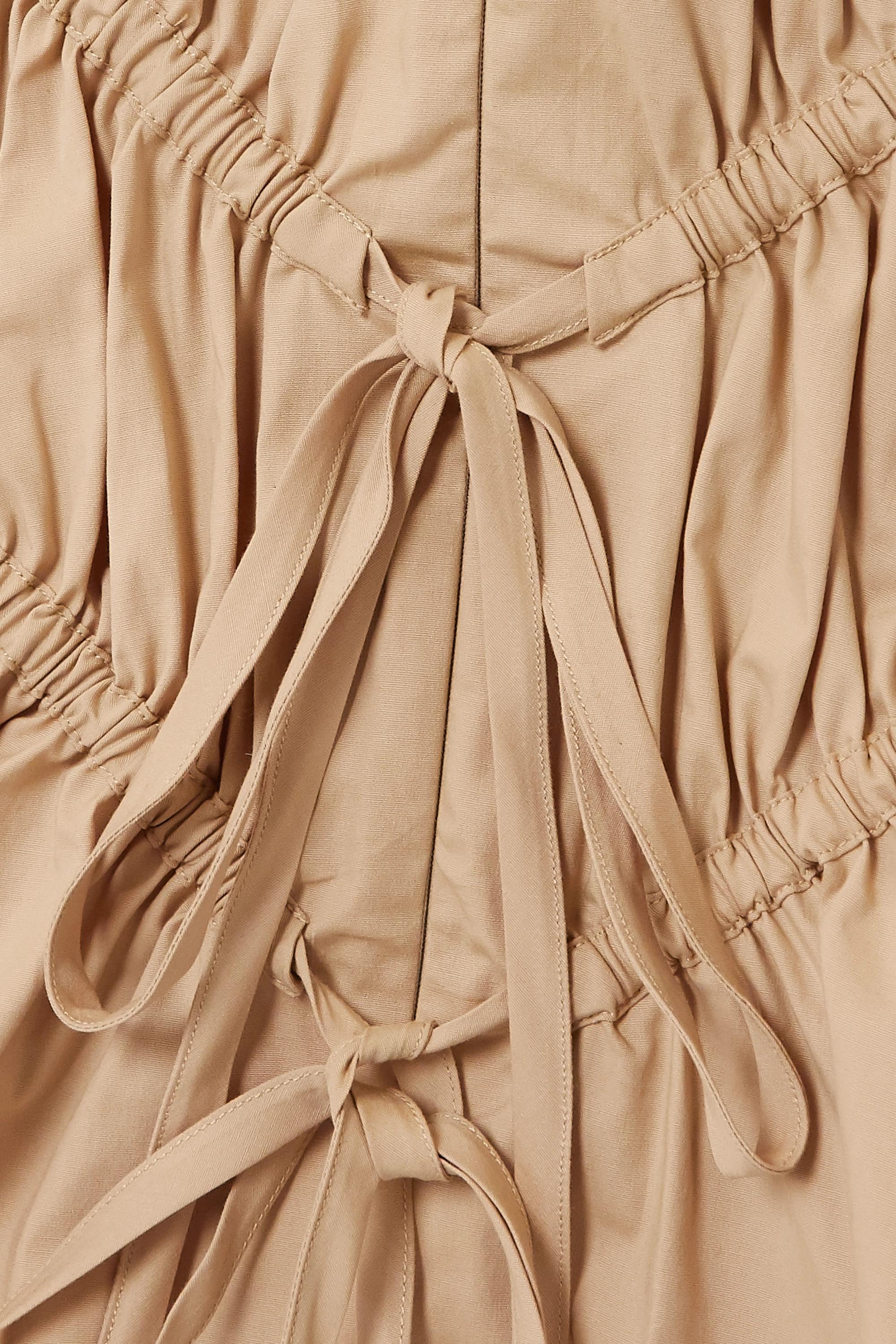 Renaissance Renaissance Crimes tie-detailed ruched cotton-blend top