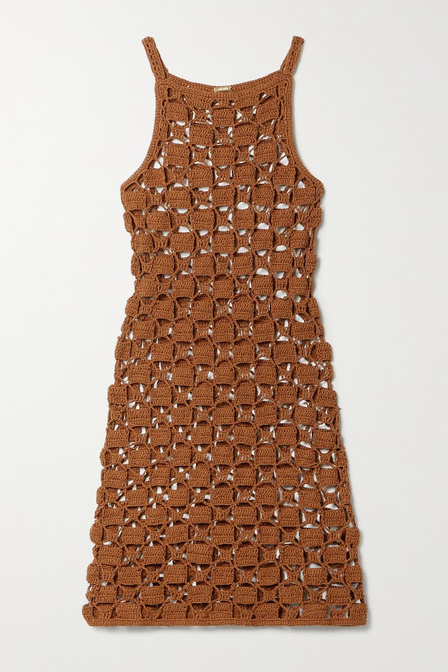 Cult Gaia Yara crocheted cotton-blend mini dress