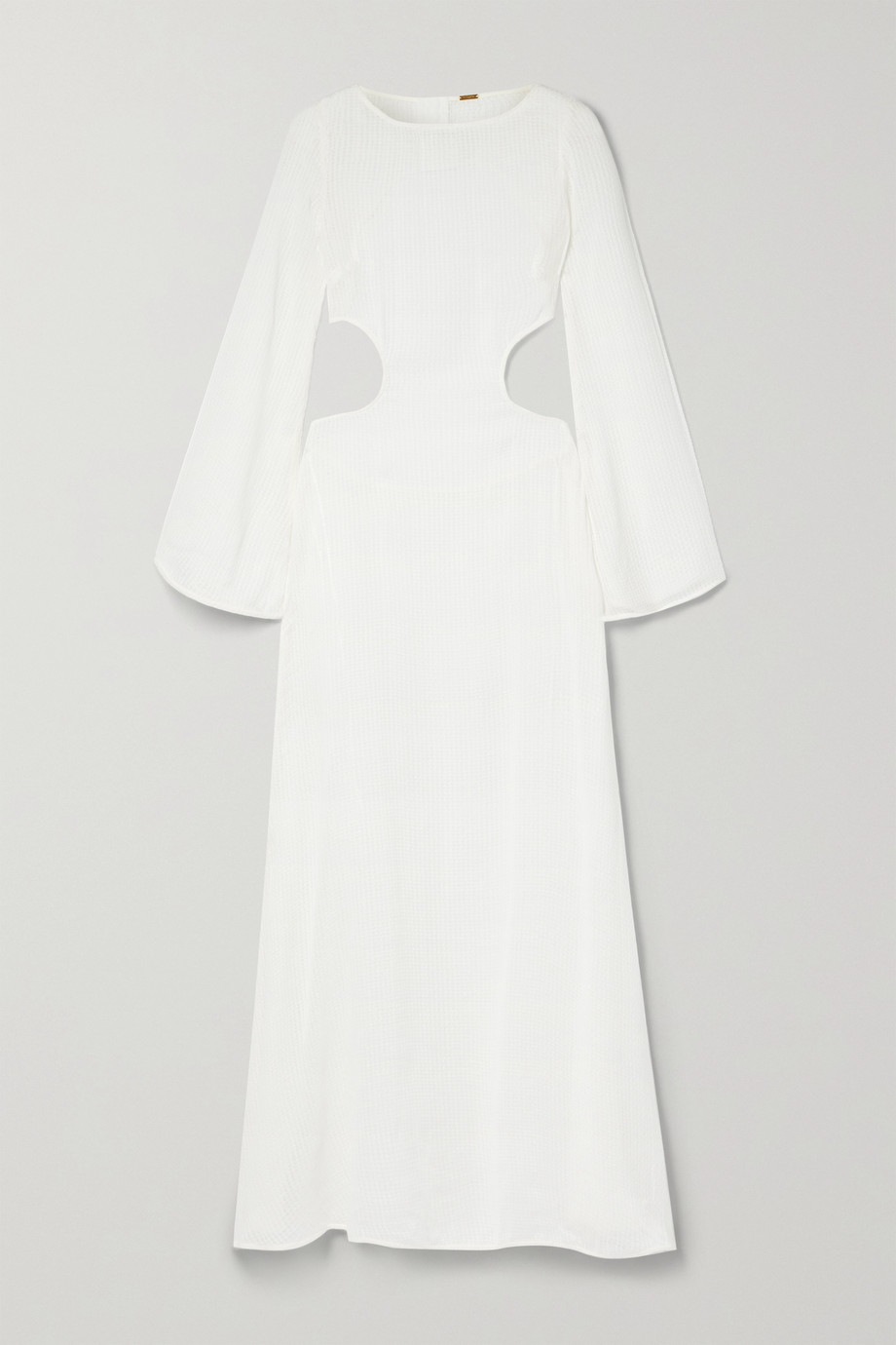Cult Gaia Kamira open-back cotton and linen-blend maxi dress