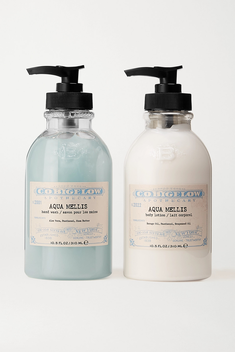 C.O. Bigelow Iconic Collection Hand Wash and Body Lotion Set – Aqua Mellis – Set aus Handwaschgel und Bodylotion